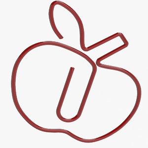 paper apple 3d max
