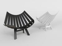chair moooi 3d model