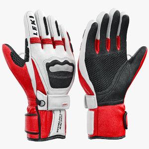 gloves leki 3d model