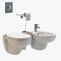 duravit wall mounted bathroom fixtures 3d obj