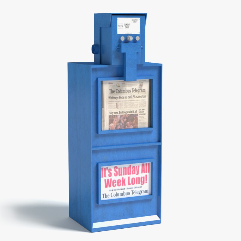 newspaper machine 3d max