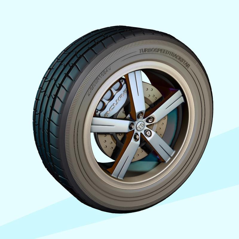 3d model wheel modeled