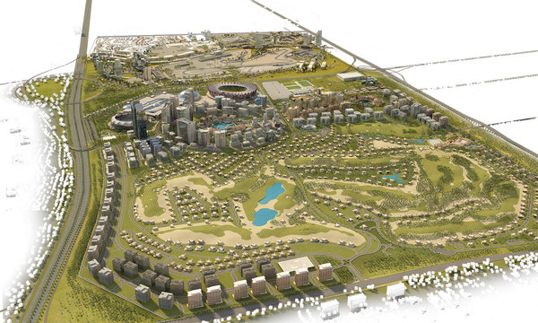 3d dubai city sports