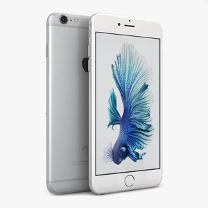 3d model apple iphone 6s silver