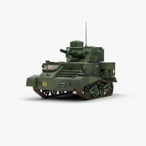 british vickers mk6 light tank 3d 3ds