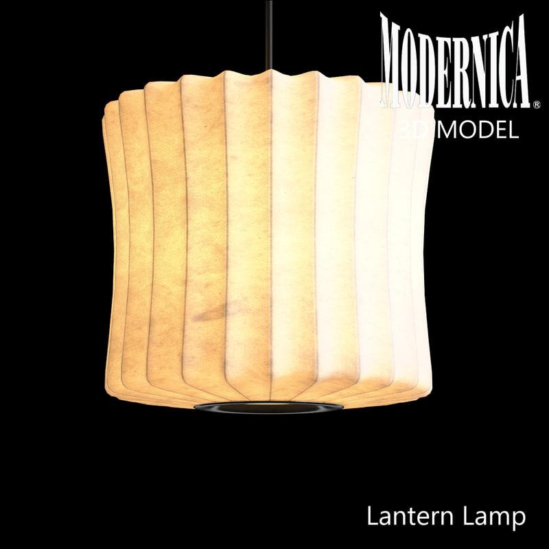 3d model modernica lantern lamp