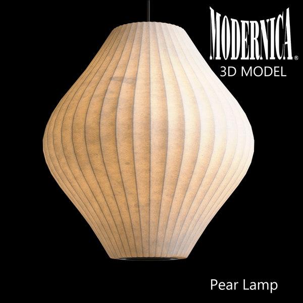 3d model modernica pear lamp