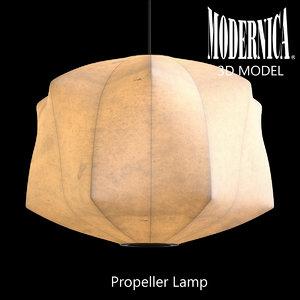 modernica propeller lamp 3d model