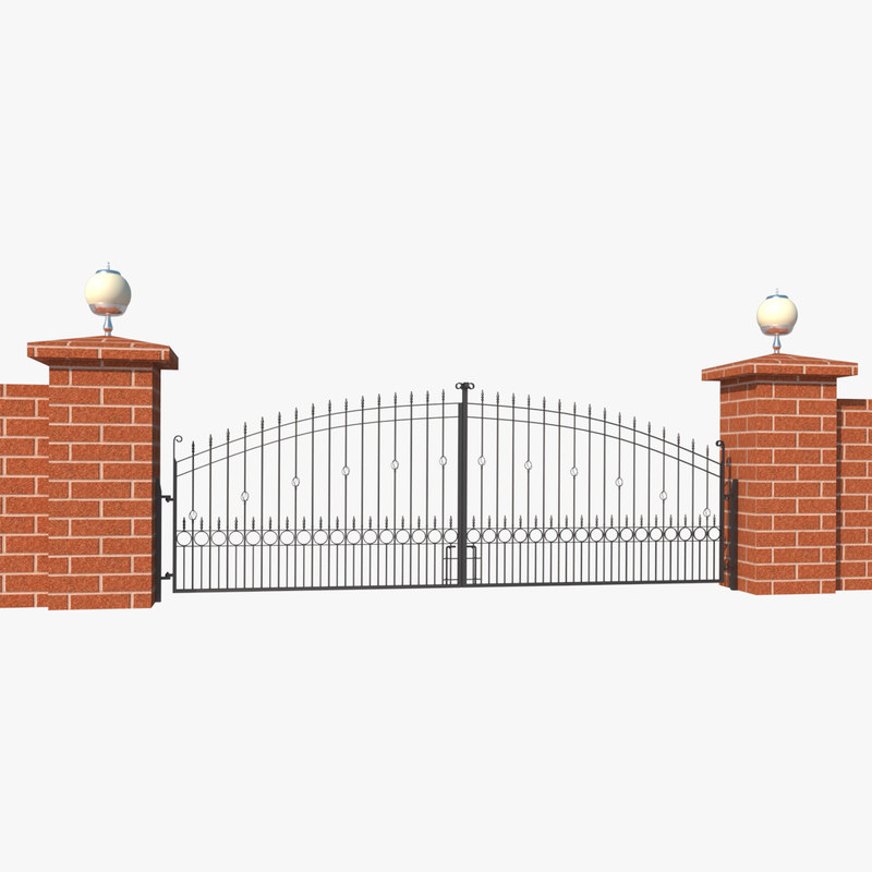 3d metal gate building model