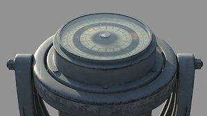 navy compass - 3d obj