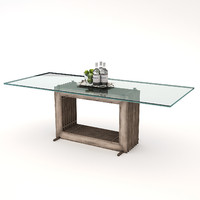 andrew martin alexander dining table 3d model