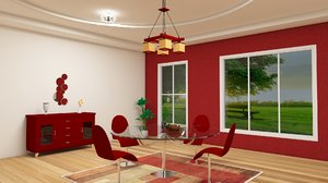 3ds max dinning room