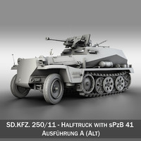 SD.KFZ 250/11 - Halftruck with sPzB 41