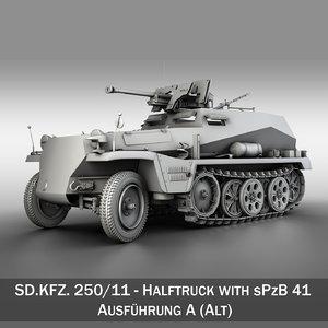 3d sd kfz 250 11 model