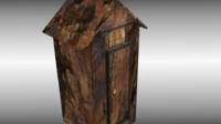 antique cabinet cupboard 3d model