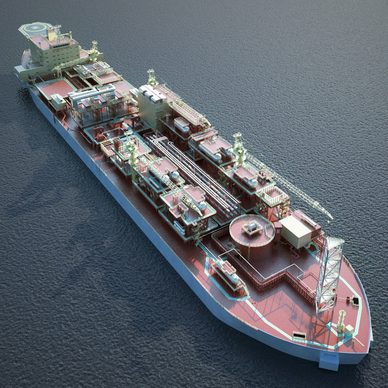 fpso floating production 3d model