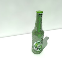 3d model of tuborg bottle