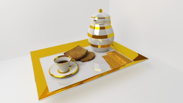 breakfast porcelain obj free
