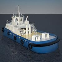 3d max tug boat