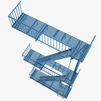 3d model escape stairs