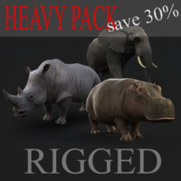 Heavy animals pack RIGGED