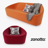 Zanotta Club Sofa and Armchair