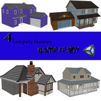 3d model of set houses