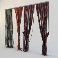 curtains rope 3d 3ds