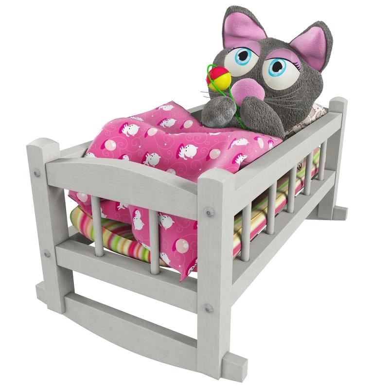 3d toy cat bed model