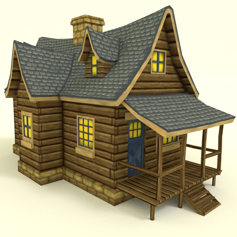 hand painted house obj