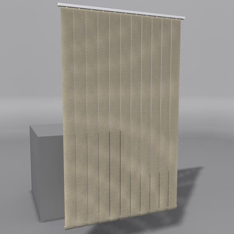 vertical blinds 3d 3ds