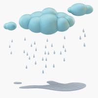 3d model cloud rain
