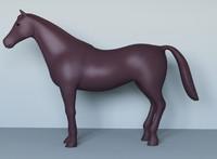 horses unwrapped 3d max