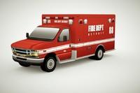 generic ambulance v2 3d 3ds