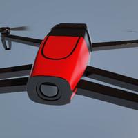 parrot bebop drone 3d model