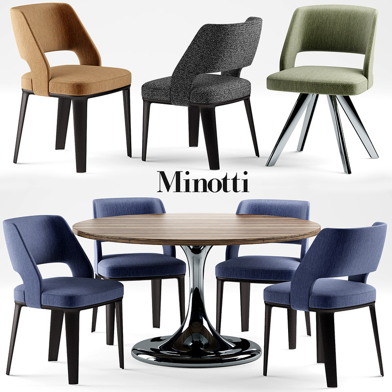3d model chair minotti neto