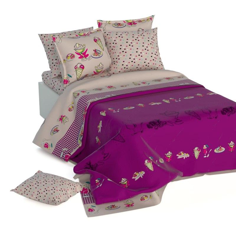 3d children bed linen