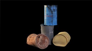 3d metallness barrels model