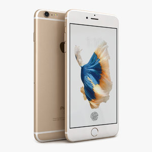 apple iphone 6s gold 3d 3ds