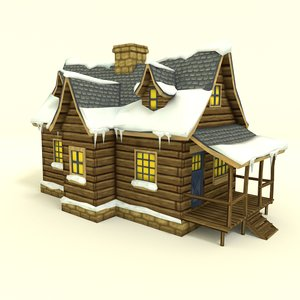 3ds winter house