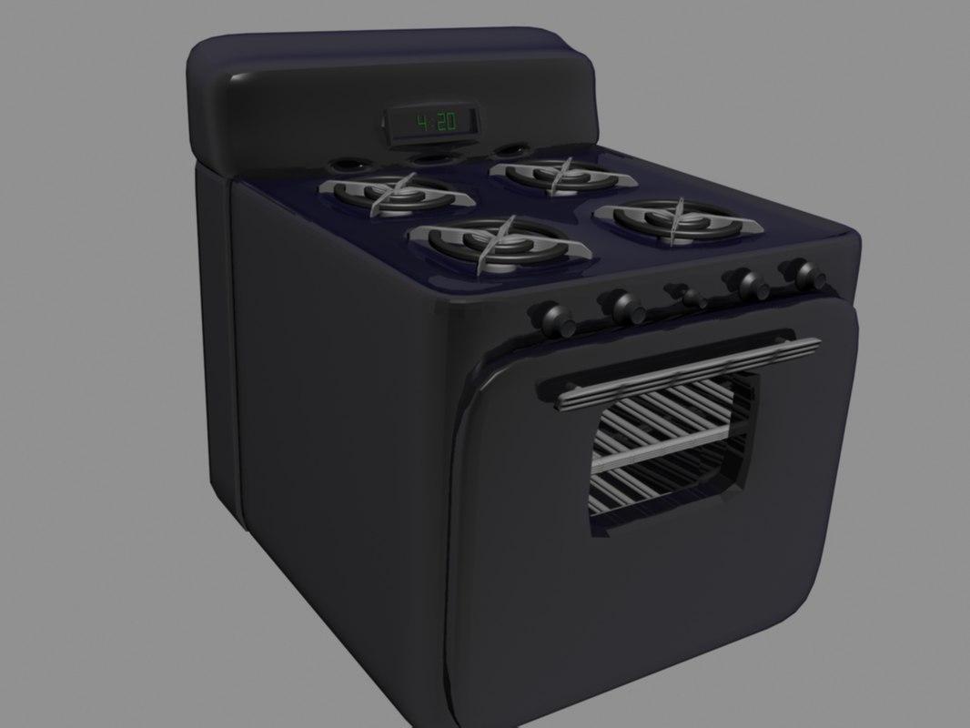 changes colors stove 3d model
