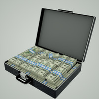 3ds max briefcase dollar