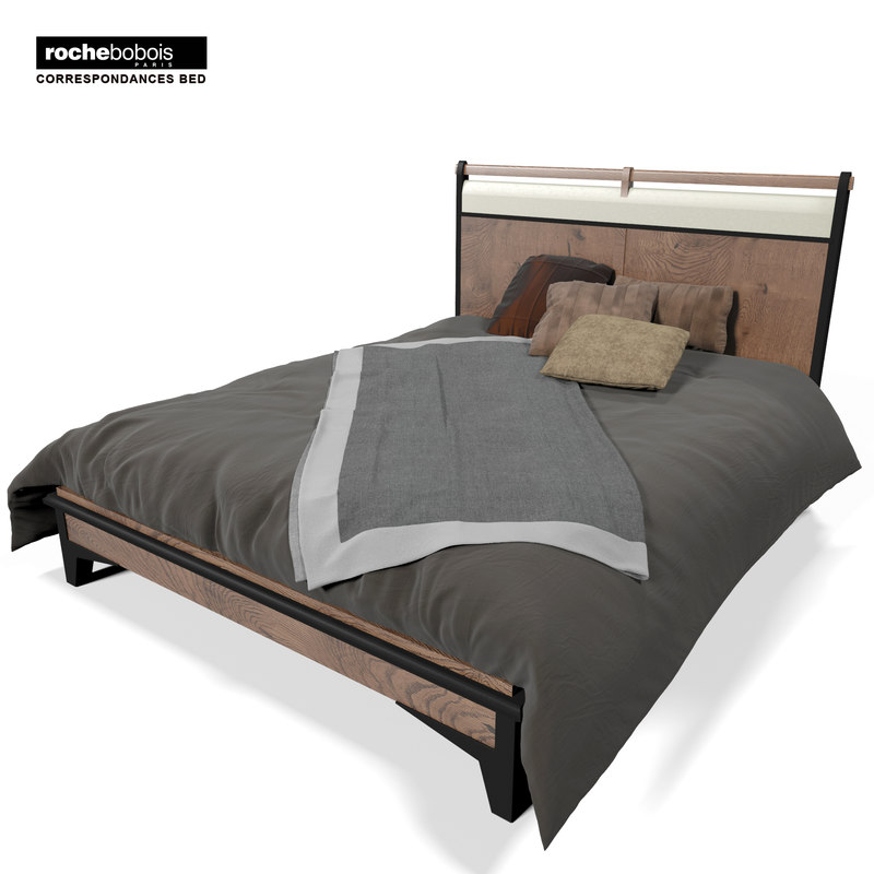 3d obj rochebobois correspondances bed