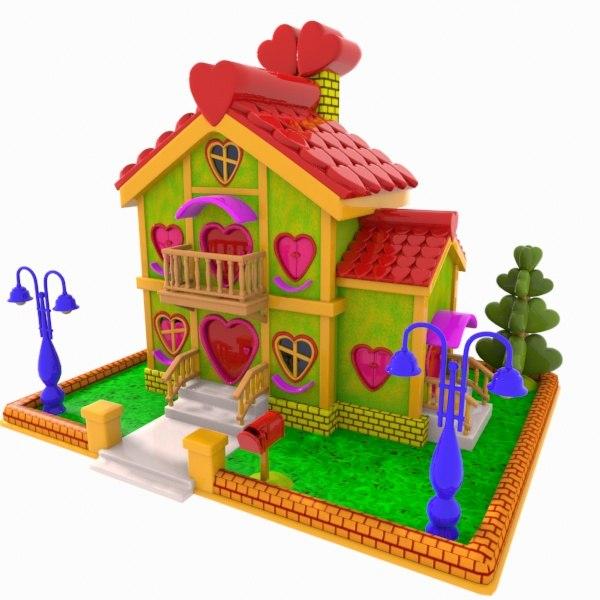 3ds cartoon house toon