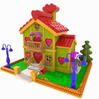 3ds cartoon house toon
