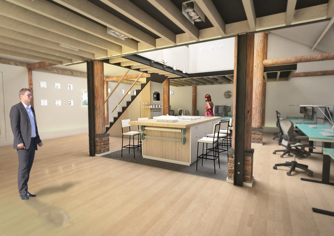 barn interior office max