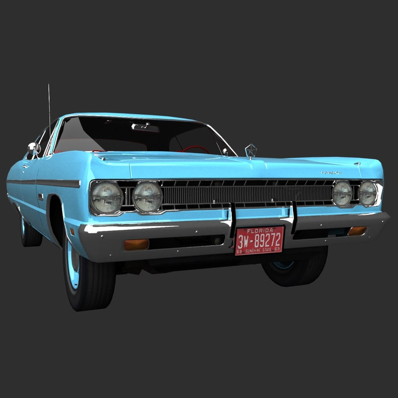 3d model plymouth fury 1969