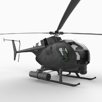 hughes ah-6 'little bird' 3d model