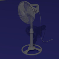 3d model electric fan