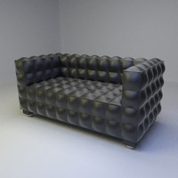 3d kubus sofa 2 seater model